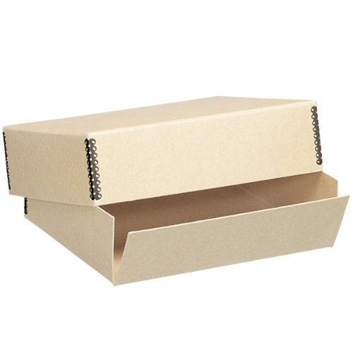 Lineco Museum Archival Drop-Front Storage Box, Acid-Free with Metal Edges, 11.5 X 15 X 3 inches, Tan (733-3011)