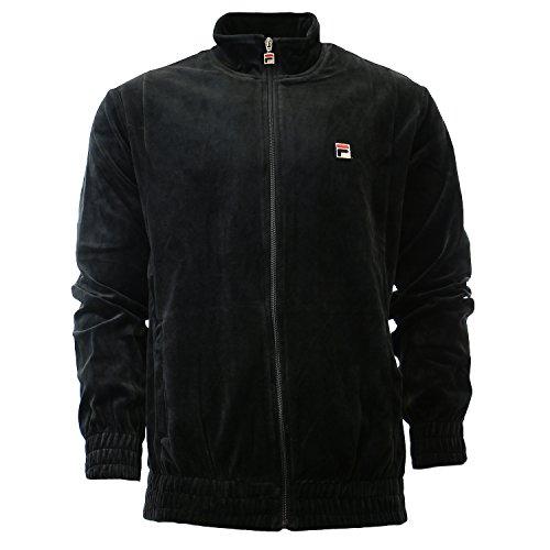 Fila Men's Velour Jacket, Black, S by Fila