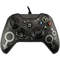 QUMOX Wired Xbox One Controller USB Game Controller for PC Gamepad Joystick with Dual Vibration Audio Function…
