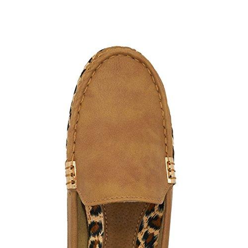 London Footwear - Sandalias con cuña mujer marrón