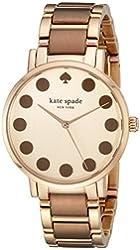 kate spade new york Women's 1YRU0739 Gramercy Dot Rose Gold-Tone Watch