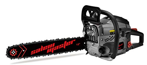 SALEM MASTER 6220F 62CC 2-Cycle Gas Powered Chainsaw, 18-Inch Chainsaw, Handheld Cordless Petrol Gasoline Chain Saw for Farm, Garden and Ranch