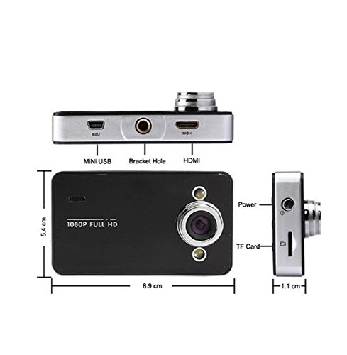 Careshine Careshine Cam Video Car Camera Recorder G-sensor 2.7 Inch HD 1080P DVR Night Vision Vehicle Recorder Black by Careshine