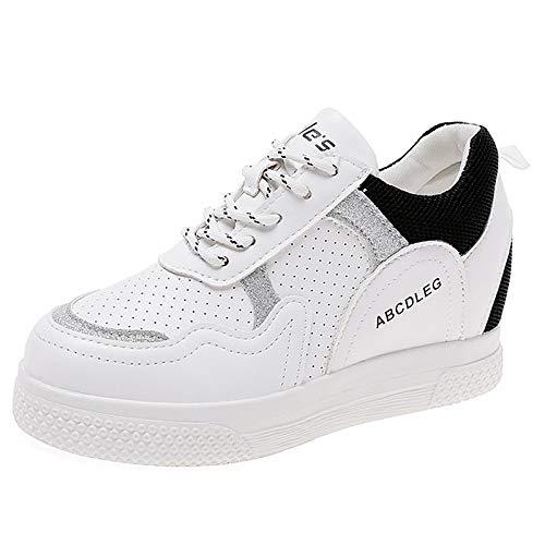 piatte Black in Sneakers Bianco piatte Nero tonda Giallo da punta estive a Tacco PU donna ZHZNVX poliuretano wqp8SSCx