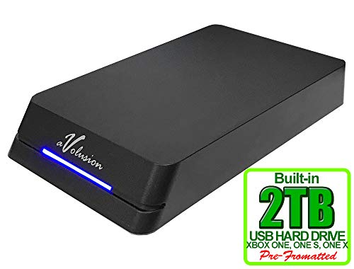 Avolusion HDDGear Pro 2TB (2000GB) 7200RPM 64MB Cache USB 3.0 External Gaming Hard Drive (for Xbox ONE X/S, Pre-Formatted) - 2 Year Warranty