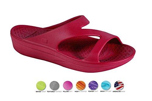 Telic Shoe Arch Support Recovery Z-Strap Sandal +Bonus Pumice $49 Value ... Fresh Cranberry