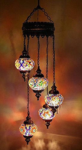 Turkish Glass Pendant Lights in US - 6