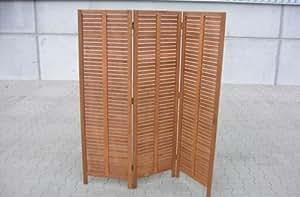 gartenmoebel-einkauf - Panel separador (madera de eucalipto, 150 x 170 cm, 3 pliegues)