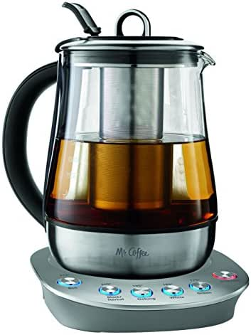 Mr. Coffee BVMC-HTKSS200 Hot Tea Maker and Kettle, Stainless Steel, 1