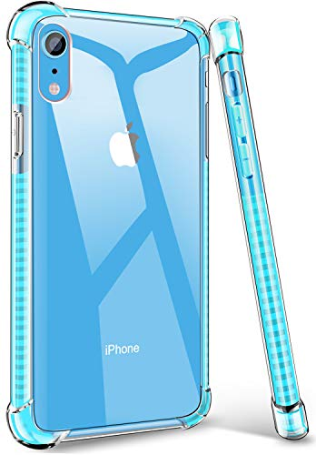 Acalantha Compatible TPU Protective iPhone Xr Case for Girls Women, Durable Resilient Shock Absorption Rugged Armor Hard Clear Back Soft Flexible Colorful Bumper Slim Case for iPhone Xr 6.1