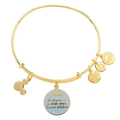 Disney Parks Alex and Ani Dream is a Wish Gold Charm Bangle Bracelet: Sports & Outdoors