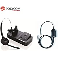 Polycom Certified Jabra PRO 9450 Midi Wireless Headset EHS (remote answer) Bundle Polycom 335 430 450 550 560 650 670 VVX 101 VVX 201 VVX 300 VVX 310 VVX 400 VVX 410 VVX 500 VVX 600 VVX 1500