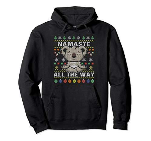 Koala Namaste Ugly Christmas Hoodie Namaste All The Way