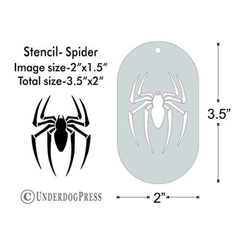 Stencil - Spider, Image Size 2x1.5 on 3.5x2 Border