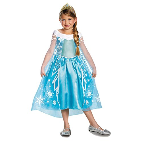 Disney Frozen Deluxe Elsa Toddler Child Costumes (Disney's Frozen Elsa Snow Queen Deluxe Costume (XS))