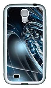 3D Abstract Hd TPU Rubber Soft Case Cover For Samsung Galaxy S4 SIV I9500 White