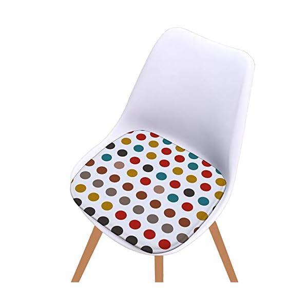 Bledyi, Cuscino Quadrato colorato per Sedia, per Interni ed Esterni, per Soggiorno, Patio, Ufficio, 40 x 40 cm 4 spesavip