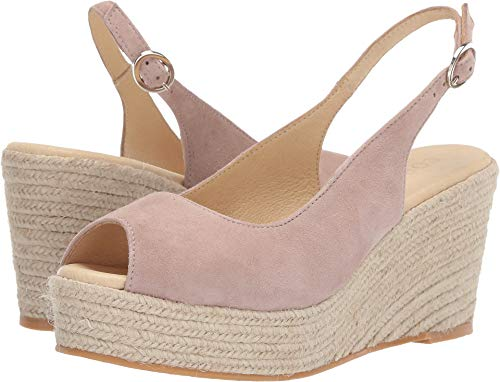 Cordani Women's Evan Espadrille Wedge Blush Suede 37 B EU