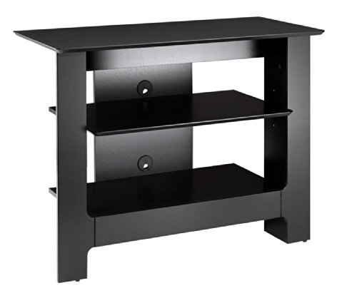 Open Shelf Production Center - Pinnacle 31-inch Tall Boy TV Stand 100206 from Nexera, Black