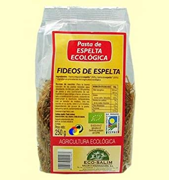 Fideos de espelta eco, 250g: Amazon.es: Alimentación y bebidas