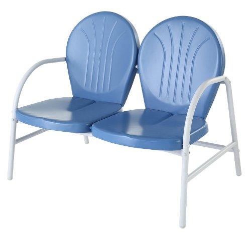 - Crosley Furniture Griffith Metal Outdoor Loveseat - Sky Blue