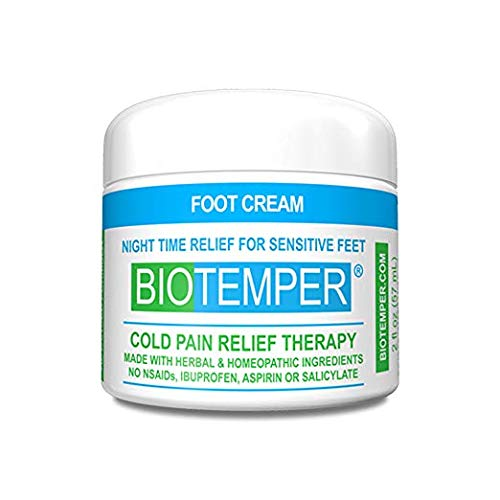 BioTemper Pain Relief Reliever Foot Cream, 2oz. Night Time Relief for Fibromyalgia, Plantar Fasciitis, Arthritis, Chronic Pain, Tendonitis, Joint and Muscle Pain-Made with Homeopathic Ingredients (Inflammatory Anti Gel)