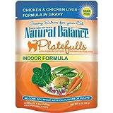 Natural Balance Platefulls Chicken and Chicken Liver Indoor Adult Cat Food, My Pet Supplies