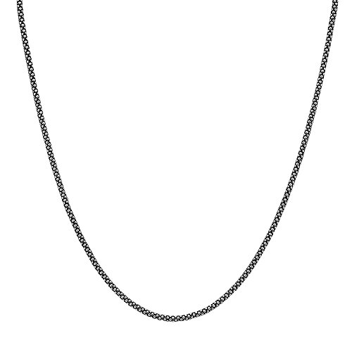 (Chain-Oxidized Popcorn Nickel Free .925 Sterling Silver CHAIN NECKLACE 20 INCHES (20, sterling silver popcorn chain 20)