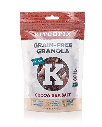 Kitchfix Grain Free Paleo Granola - Cocoa Sea Salt - Gluten Free NON GMO - Healthy & Crunchy Low Carb Snack - Breakfast Cereal (10oz)