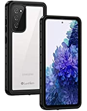 Lanhiem Samsung S20 Fe 5G Case Compatible with Fingerprint Sensor , Built-in Screen Protector Waterproof Dustproof Case, Full Body Heavy Duty Shockproof Protective Cover for Samsung Galaxy S20 Fe 5G (Black)