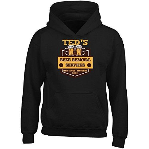 Ted Adult Hoodie (Ted S Beer Removal Service Cans Mugs Pitchers Kegs - Adult Hoodie 2xl Black)