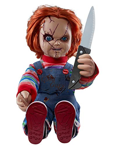 Good Guys Doll (Spirit Halloween 2 Ft Talking Chucky Doll Decoration | Officially Licensed... (2019)