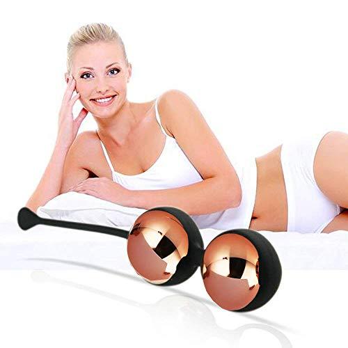 Metal Ben Wa Balls Kegel Exercise Kit Premium Rose Gold, 2 Balls for Beginners, Improve Women Bladder Control