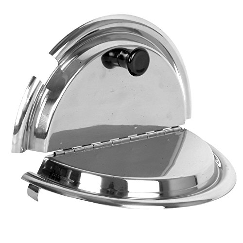 Excellante 849851007871 Stainless Steel Divided Cover, 7 quart, 9.8'' by Excellante