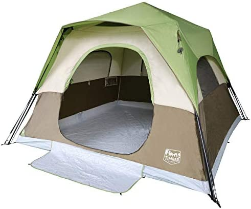 Timber Ridge Camping Tent 6 Person Instant Tent 10×10 Feet Portable Cabin Tent