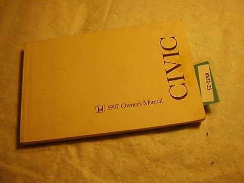 1997 honda civic coupe owner s manual original 2 door honda amazon rh amazon com 1997 honda civic lx owners manual 1997 honda civic dx owner's manual