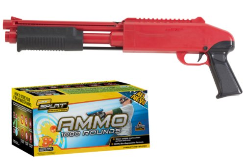 JT SplatMaster z200 Paintball Shotgun .50 Cal Red w/1000 Paintballs