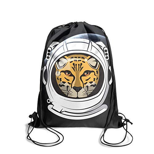 Madeline And Tiger Costumes - Drawstring Backpack Tiger Astronaut Head Cinch