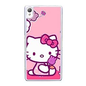 Hello Kitty caso de bloqueo N3R32S9JG funda sony Xperia Z3 funda 7DHJTE blanco