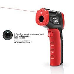 Eventek Infrared Thermometer, IR Laser Thermometer, Non-Contact Digital Temperature Gun -50°C~550°C (-58°F~1022°F), Red/Black