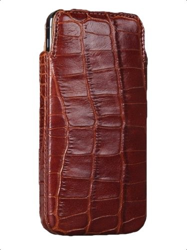 Sena Elega Leather Pouch for iPhone 5s and 5 - Croco Tan - 826919 (Elega Pouch Case)