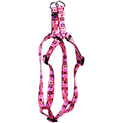 Yellow Dog Design Valentines Blocks Step-in Dog Harness-Medium-3/4 and fits Chest Circumference of 15 to 25""