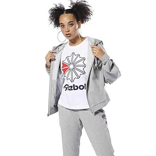 Female Grey Hoodies Sweatshirts S And Foundation Medium Classics Heather Reebok PWqaXv01q