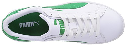 Puma Smash L, Zapatillas, Unisex Adulto Blanco (White/Fern Green 07)