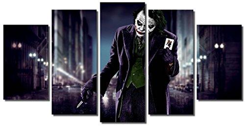 Picture Sensations Framed Canvas Art Print, Joker DC Comic Super Villain Joker Print, Joker Canvas, Batman Art, Batman Wall Canvas Art - 60
