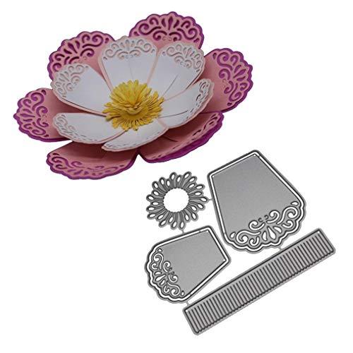 Cutting Dies, Metal Cutting Dies Flower Embossing Stencil Template for DIY Scrapbooking Album Paper Card Craft Decoration ()