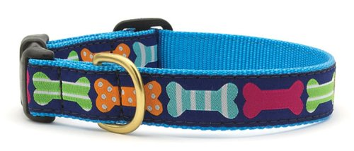 Up Country Ribbon Dog Collar with Big Bones, Extra Large