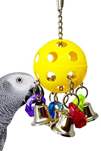 Bonka Bird Toys 1937 Bellpull Bird Toy Parrot Cage Toys Cages African Grey Conure Cockatiel. Quality Product Hand Made in The USA.