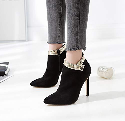 DANDANJIE Zapatos de Mujer Botines de Moda Tacón de Aguja ...