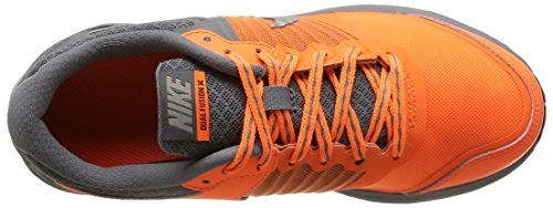 Nike Dual Fusion X (GS) - Zapatillas para niño Ttl Orng/Mtllc Slvr-Cl Gry-Blk